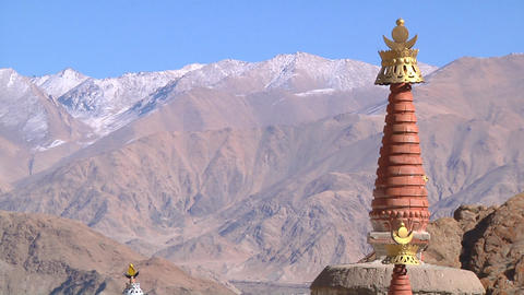 Buddhist Stupas Footage