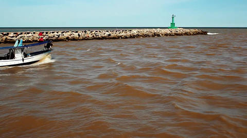 Mud In The Sea stock footage