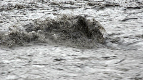 Close View Of The Affluent Mountain Nepal River stock footage