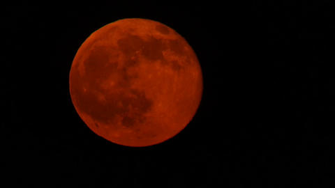 Time lapse of a Blood Moon rising Footage