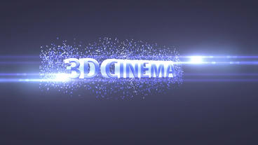 3 D Cinematic Short Trailer stock footage