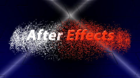 Spotlights text animation (no plugins) After Effects Template