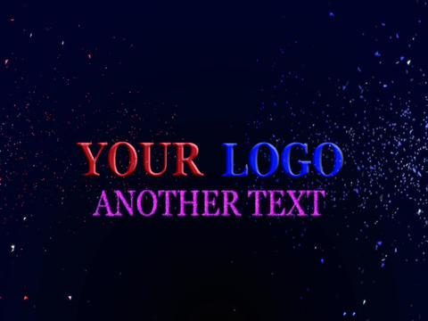 colorful 3d text project (no plugins) After Effects Template