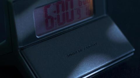 Digital Alarm clock wake up snooze Footage