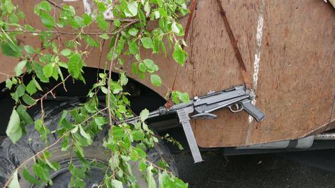 German submachine gun MP-40 weapons Wehrmacht Footage