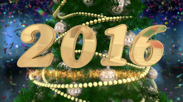 New Year 2016 Countdown stock footage