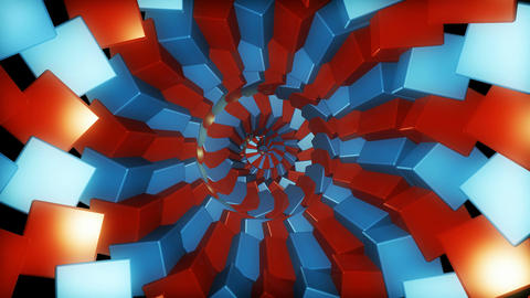 twirl tunnel cubes Animation