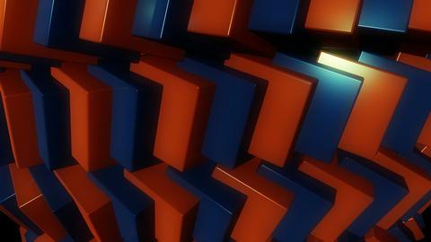spotlights cubes row Animation