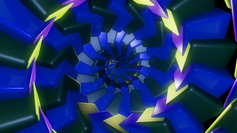 neon cube tunnel Animation