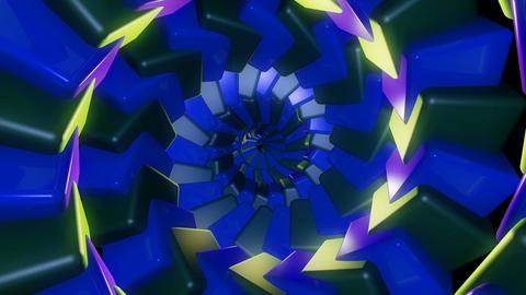 neon cube tunnel Animation