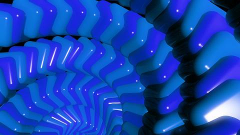 blue cube chain Animation
