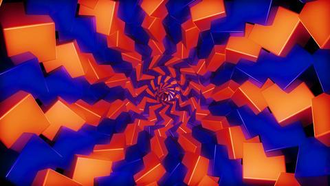 twirl glowing cubes Animation