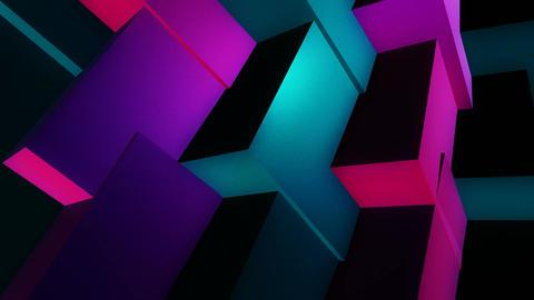 glowing random cubes Animation