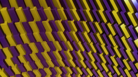 color cube row Animation