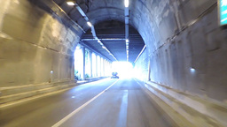 Driving through different tunnels Footage