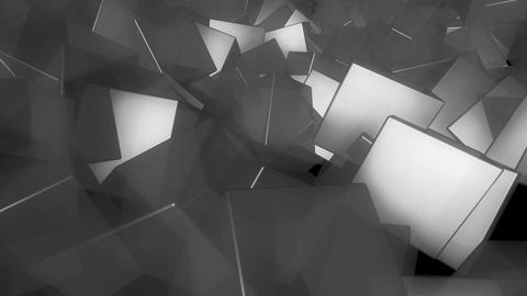 gray cube spinning Animation
