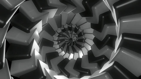 grayscale cube tunnel Animation