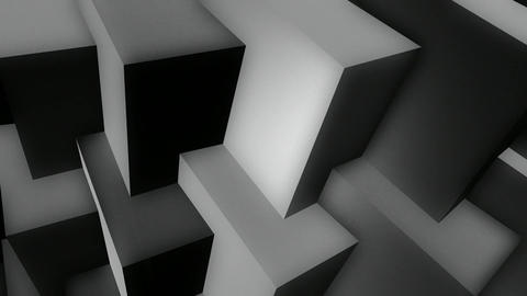 white cubes row Animation