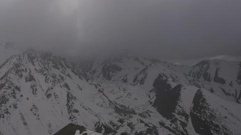 On a Mountaintop Cloud Creeps HD Footage
