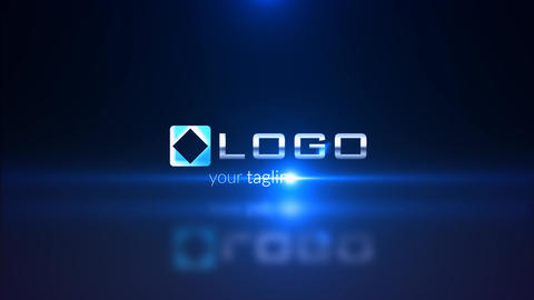 Electric Blue Light Streak Business Logo Reveal Intro After Effects Template