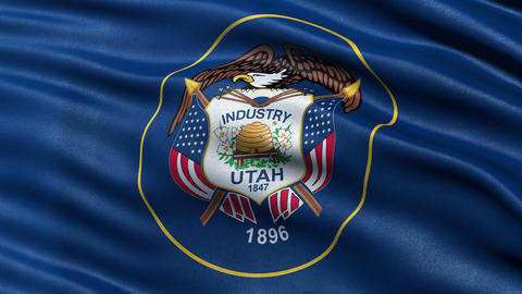 4K Utah state flag seamless loop Ultra-HD Animation