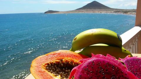 Fruits, Ocean, Volcano stock footage
