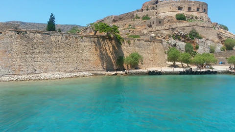 Island Fortress Of Spinalonga stock footage