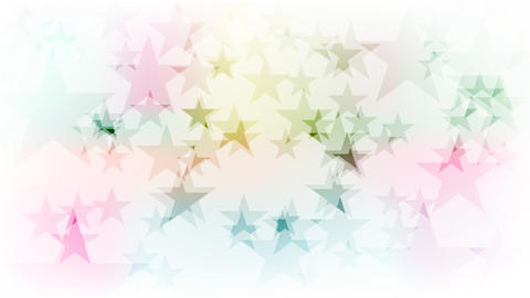 Colorful sparkling stars video animation Animation