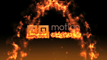 LOGO Appearance a flame After Effects Template