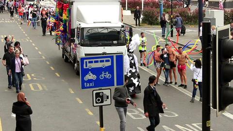 Birmingham Gay Pride - Twiggy and hunks ビデオ