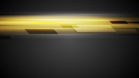Geometric shapes on glowing yellow background Animation