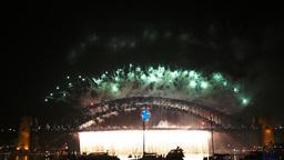 nye fireworks sydney-4K Live Action