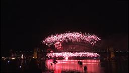 New Years Eve fireworks on Sydney Harbour Bridge at 60fps-2 Footage