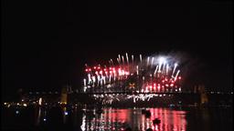 New Years Eve fireworks on Sydney Harbour Bridge at 60fps-3 Footage