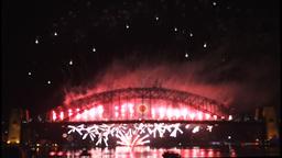 New Years Eve fireworks on Sydney Harbour Bridge at 60fps-6 Footage
