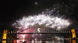 New Years Eve fireworks on Sydney Harbor Bridge 06 Footage