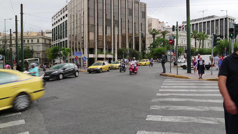 Road traffic in Athens, Greece Footage