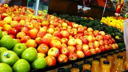 Shopping For Apples stock footage