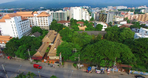 rising aerial and birds eye Chiang Mai Live影片