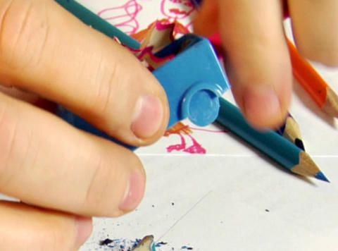 pencils sharpening Footage