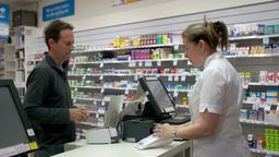 Pharmacy Sale stock footage