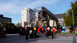 christchurch cathedral square Footage
