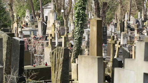 Old tombs on the Lychakiv Cemetery in Lviv, Western Ukraine Footage