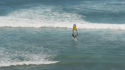 windsurfer at diamond head Footage