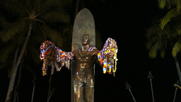 duke kahanamoku statue close up Footage