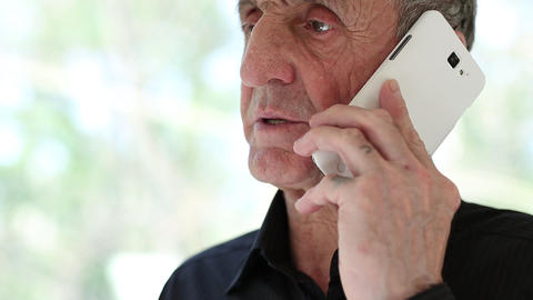Man talking on a cell phone Footage