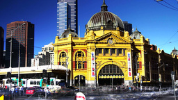 flinders street station time lapse Footage