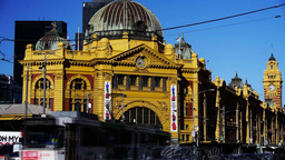 flinders street railway station time lapse Footage