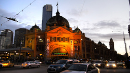 flinders street station in melbourne Footage
