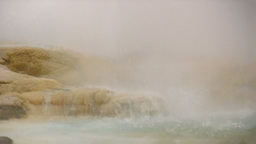 Erupting small geyser closeup Footage